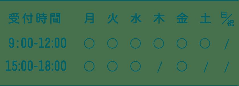 稲田クリニック(INADA CLINIC)の診療時間